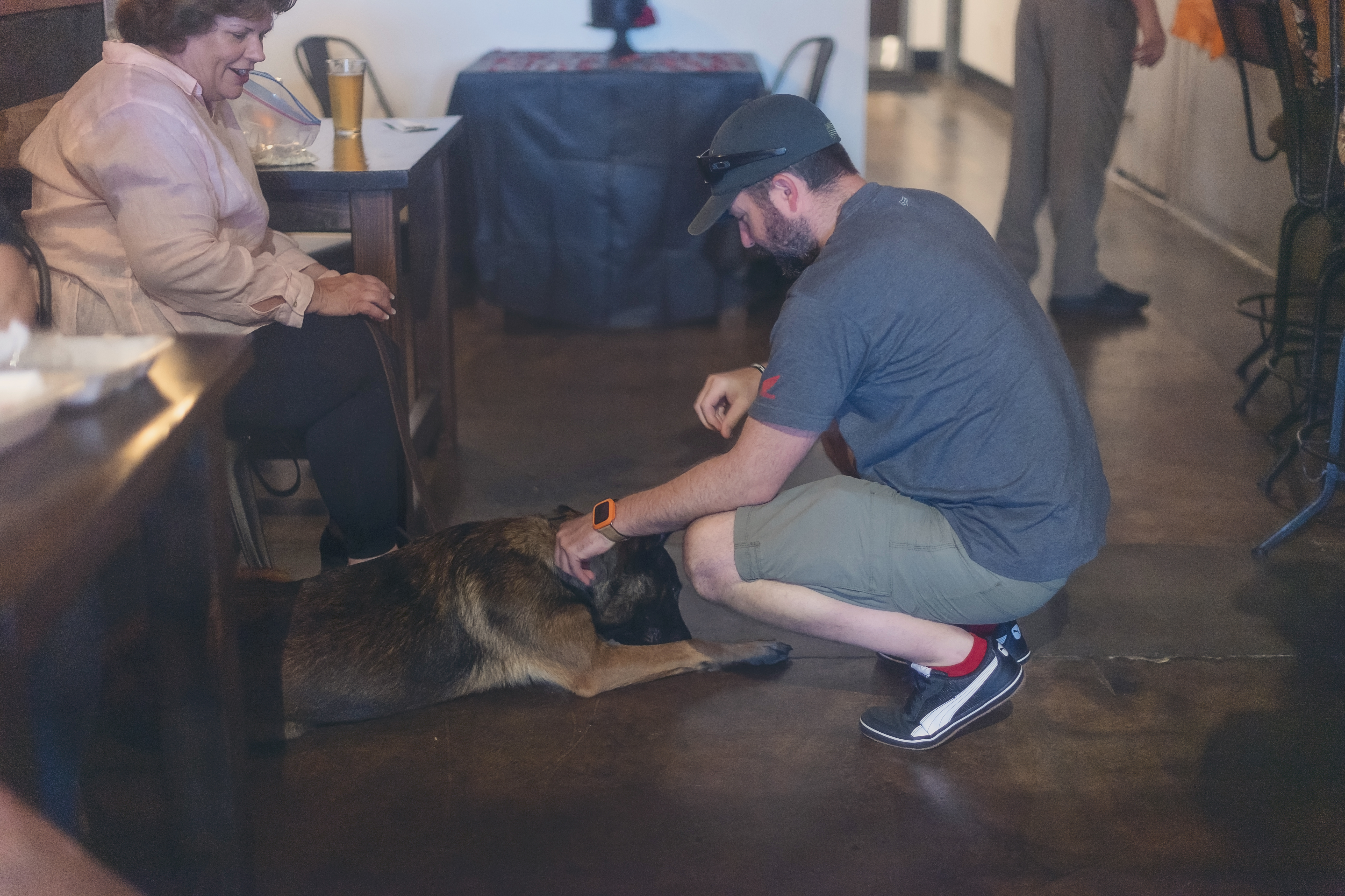 service dog at fundraiser